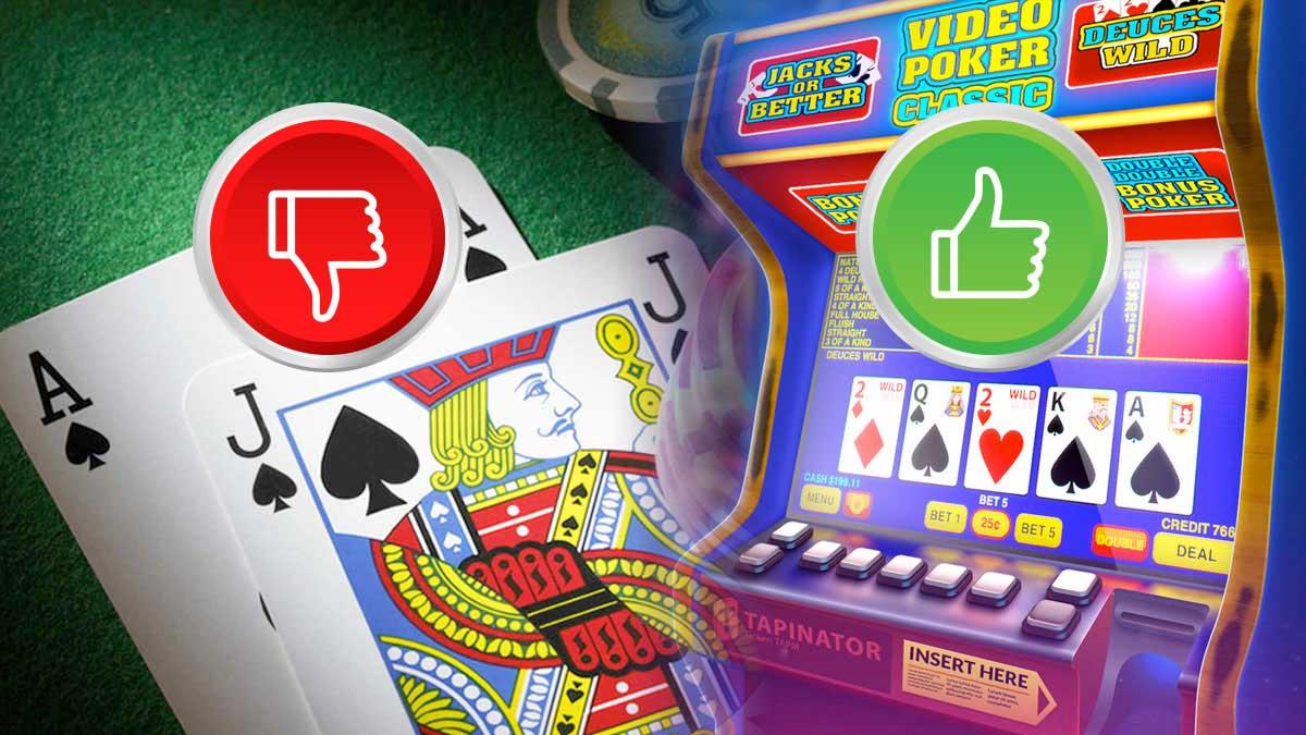 Alasan Mengapa Video Poker Lebih Baik Daripada Blackjack